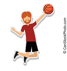 person figure athlete basketball sport icon