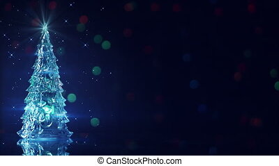 christmas tree and blinking stars seamless loop