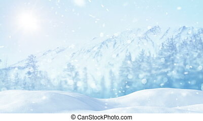 christmas landscape loopable background - christmas...