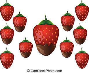 Delicious chocolate-dipped strawberry - Delicious...