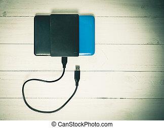 External Hard disk Vintage - USB External Hard disk tacked...