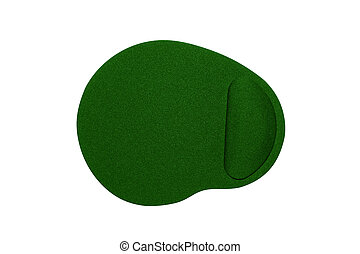 the mouse pad on a white background - mouse pad isolated on...