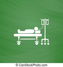 Illustration of Life icons, hospitalized - Life hospitalized...