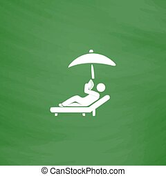 relax under an umbrella on a lounger - Relax under an...