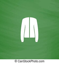 Jacket flat icon - Jacket Flat Icon Imitation draw with...