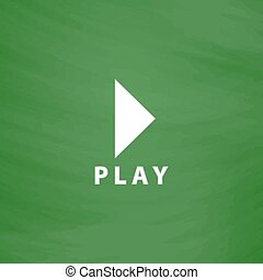 Play button flat icon