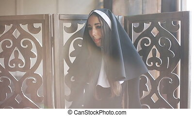 sexy bad nun in church - bad nun sexy looks