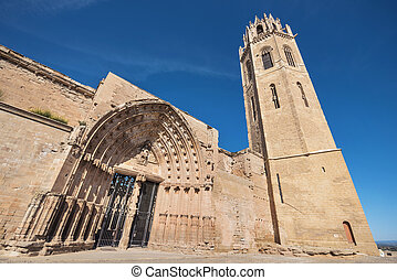La Seu Vella cathedral in Lleida, Catalonia, Spain.