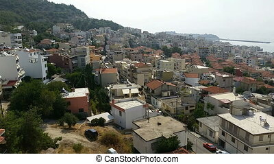Aerial View of the City of Kavala i - Time lapse 180 Degrees...