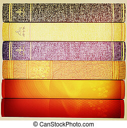 The stack of books . 3D illustration. Vintage style. - The...