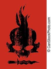 Concept design vector, black skull