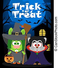 Halloween trick or treating - Halloween background trick or...