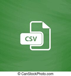 CSV extension text file type icon - CSV extension text file...