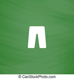 capri flat icon - Capri. Flat Icon. Imitation draw with...