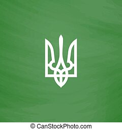 Trident icon, vector illustration - Trident Flat Icon...