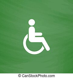 disabled flat icon - Disabled Flat Icon Imitation draw with...