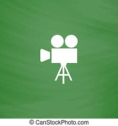 Video camera icon vector - Video film camera Flat Icon...