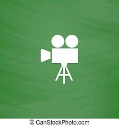 Video camera icon vector - Video film camera. Flat Icon....