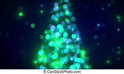 christmas tree lights out of focus flashing loopable -...