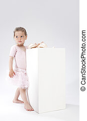 Children Concepts and Ideas Little Cute Caucasian Girl Poses...