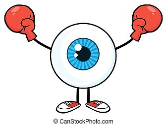 Eyeball Guy Wearing Boxing Gloves