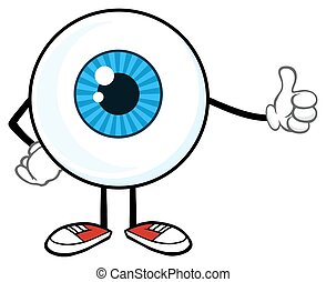 Eyeball Guy Giving A Thumb Up