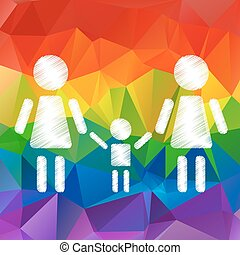 lesbian family with kid - Lesbian family with kid on a...