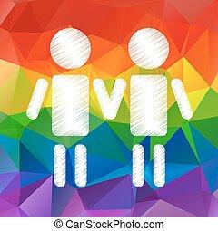 stylized gay couple