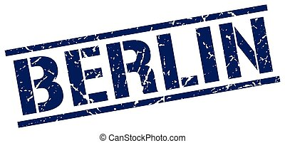 Berlin blue square stamp