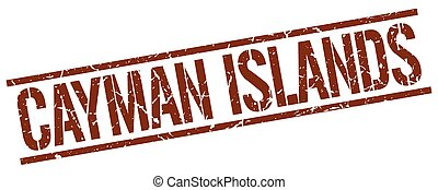 Cayman Islands brown square stamp