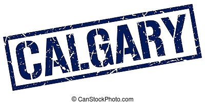 Calgary blue square stamp