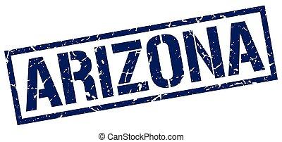 Arizona blue square stamp