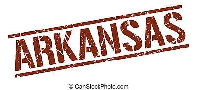 Arkansas brown square stamp