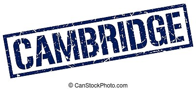 Cambridge blue square stamp