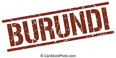 Burundi brown square stamp