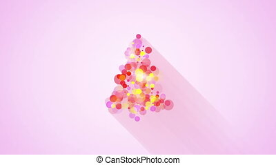 glow colorful christmas tree shape loopable animation - glow...