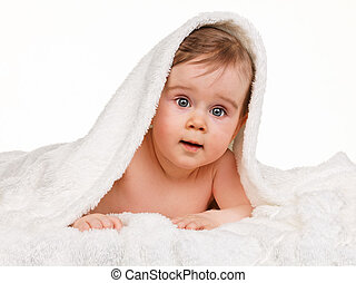 Small marveling child baby blanket