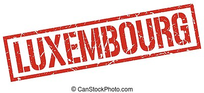 Luxembourg red square stamp