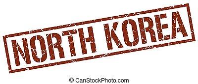 North Korea brown square stamp