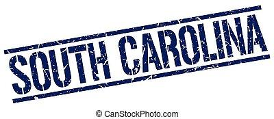 South Carolina blue square stamp