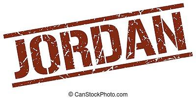 Jordan brown square stamp