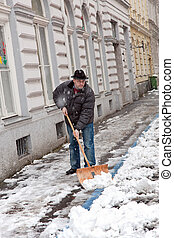 Caretaker admits sidewalk of snow - Snow removal by a...