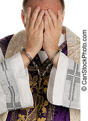Abuse in the church. Pastor handcuffed