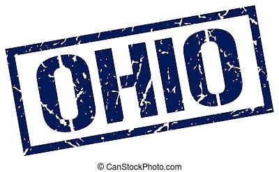 Ohio blue square stamp