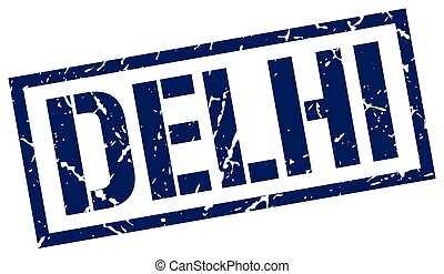 Delhi blue square stamp
