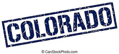 Colorado blue square stamp