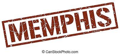 Memphis brown square stamp