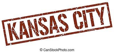 Kansas City brown square stamp