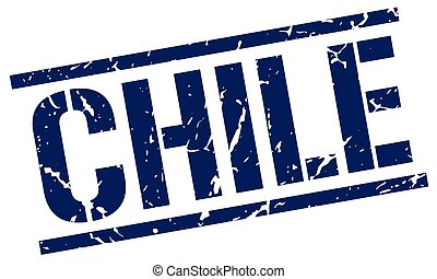 Chile blue square stamp