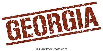 Georgia brown square stamp